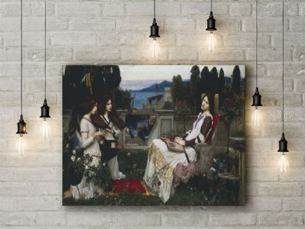 John William Waterhouse: Saint Cecilia. Fine Art Canvas.